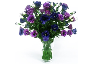 Silky Florals Purple Arrangement